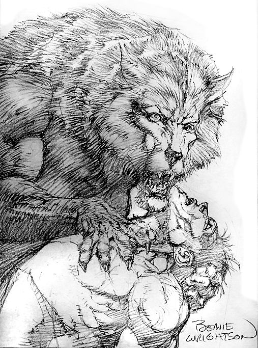 Drawn wolfman bear Wrightson 564 images Lycanthropes on