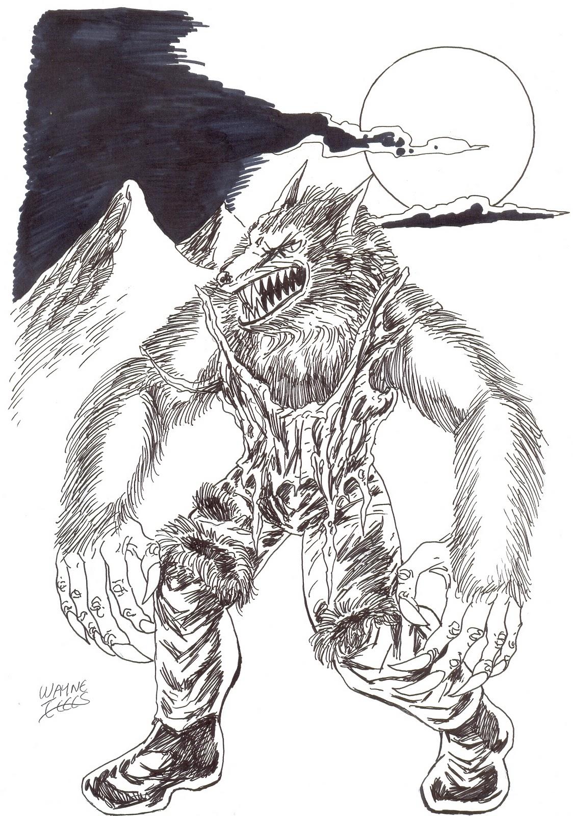 Drawn wolfman beginner Tully Werewolf  Drawing Fantasy