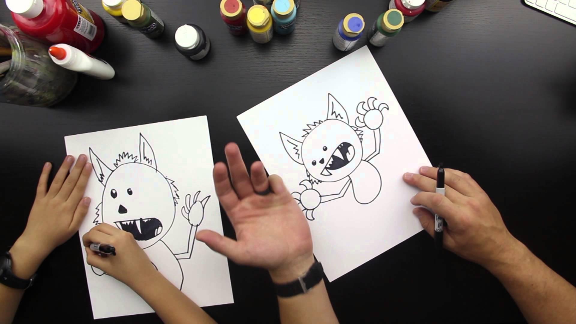 Drawn wolfman beginner YouTube A Werewolf Draw
