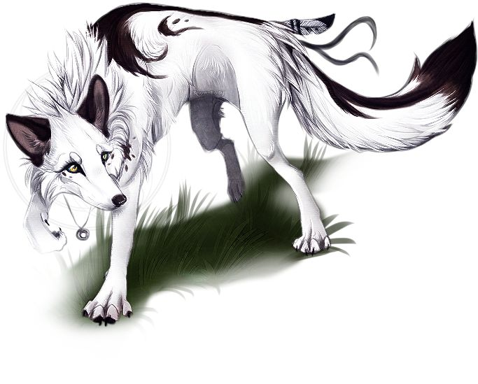 Drawn wolfman buff body Body Snow on Silence by