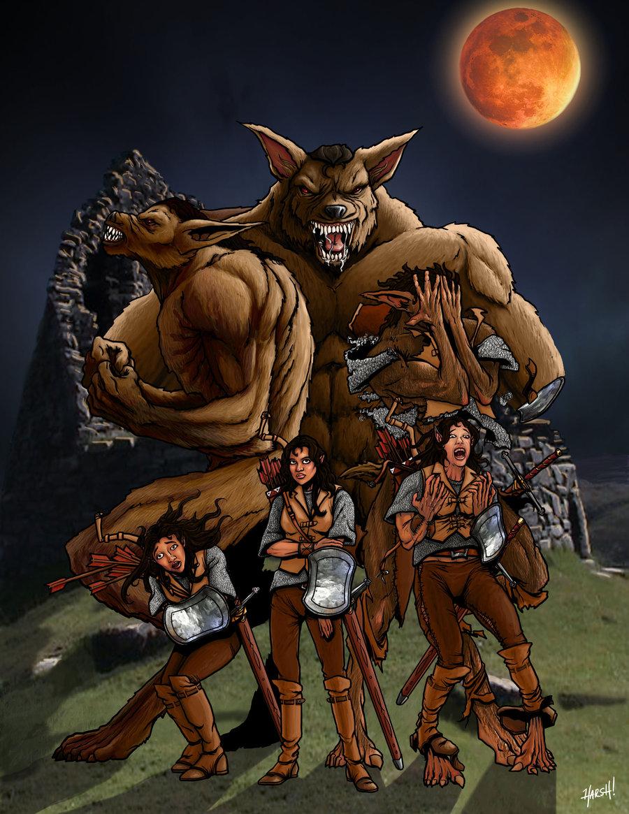 Drawn wolfman buff body On Werewolf ~HarshRealities by