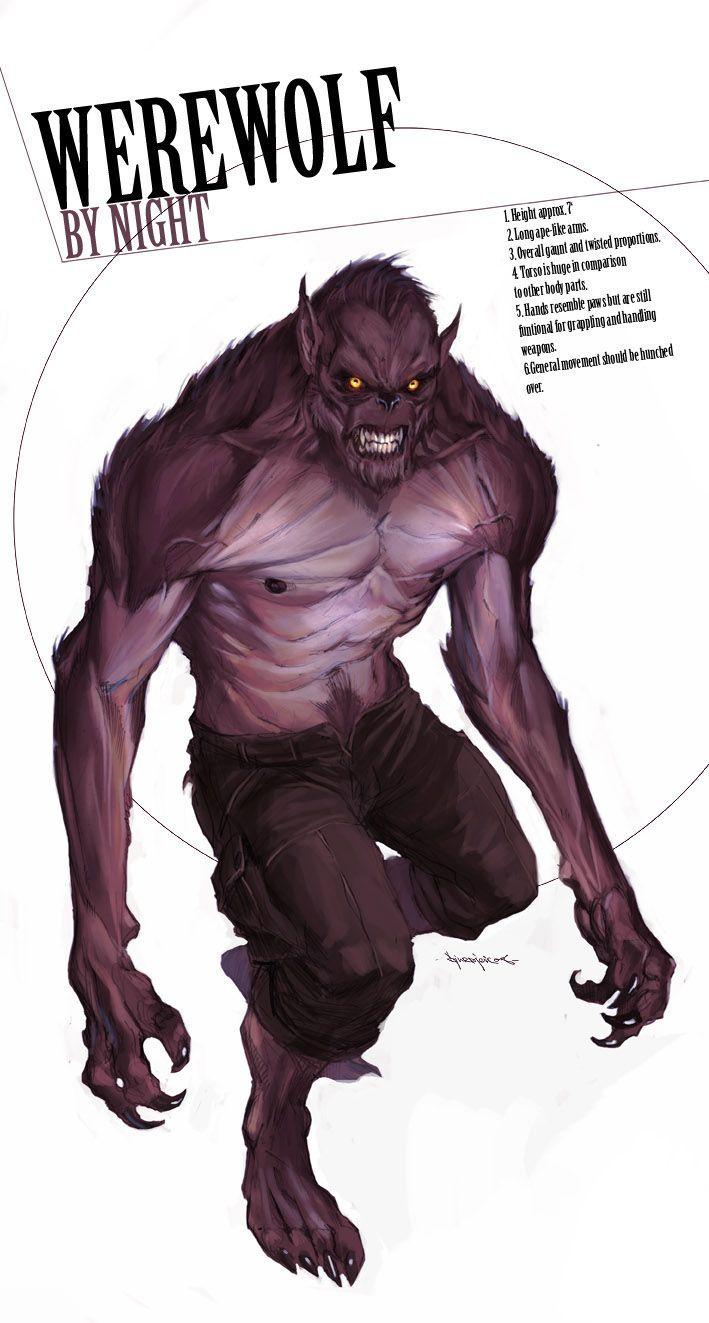 Drawn wolfman buff body Marko Humanoid by / on