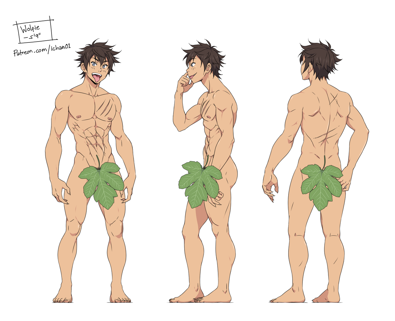 Drawn wolfman buff body Manga sketches png Pinterest referencias