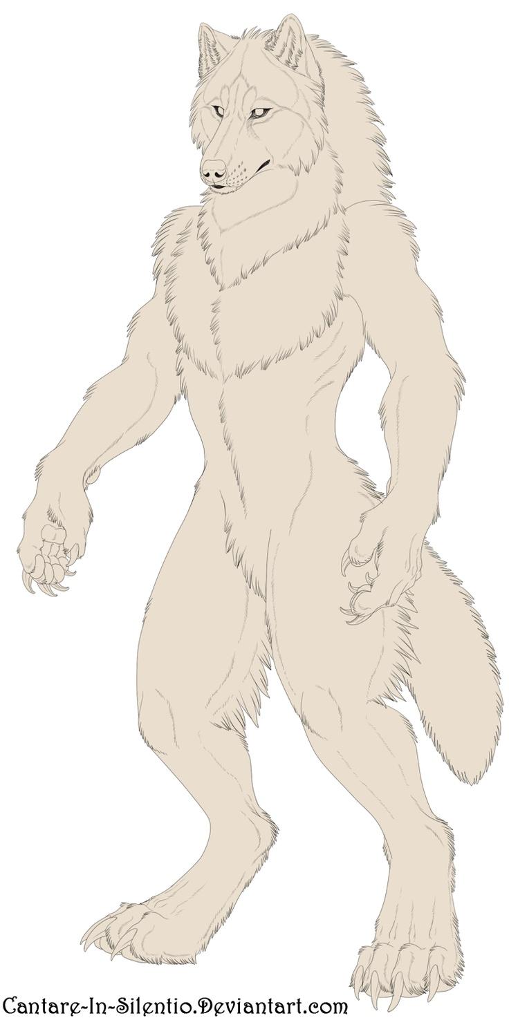 Drawn wolfman buff body =FenrirSulfer by on Werewolf Lineart