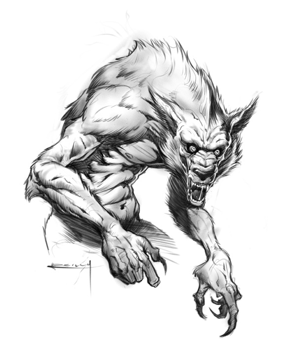 Drawn wolfman character development On on Pin werewolf more