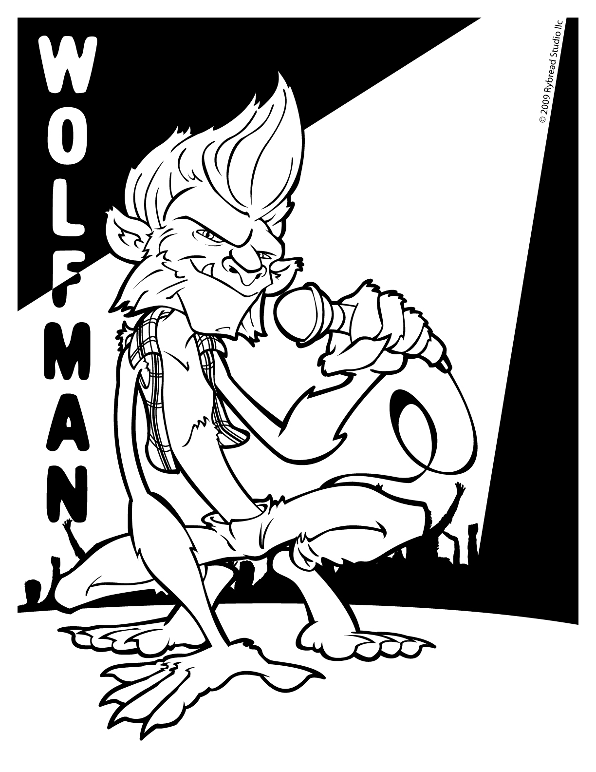Drawn wolfman coloring page Page Doodle Coloring Masters Coloring