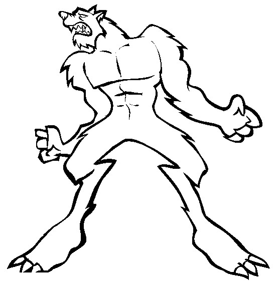 Drawn wolfman coloring page Pictures wolfman Coloring Pages