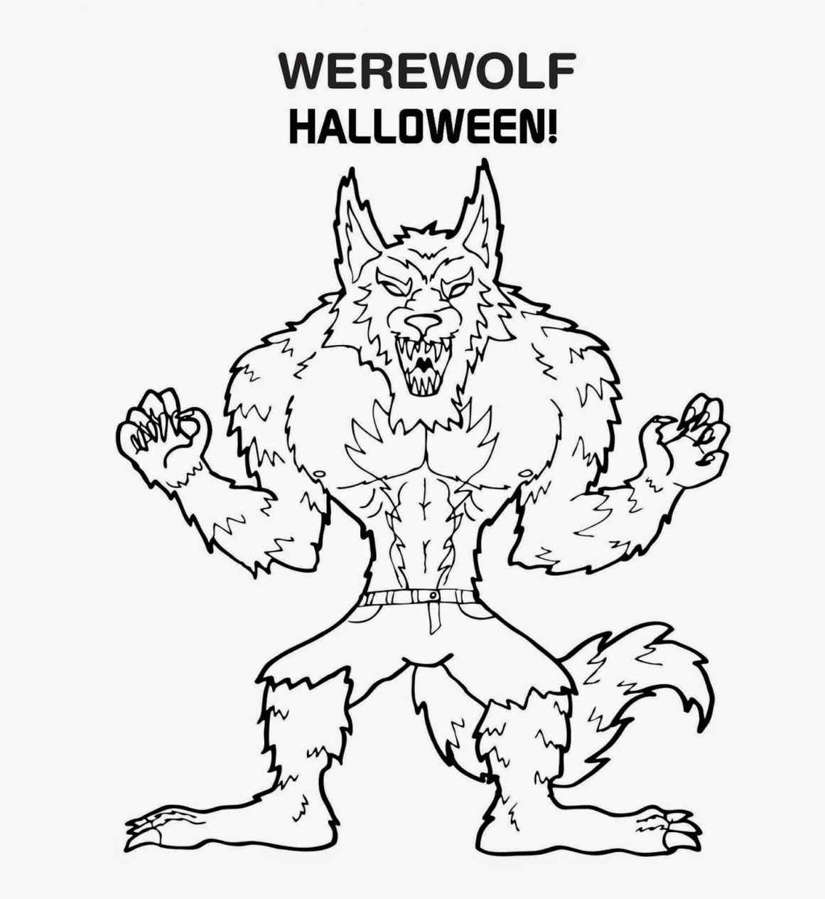 Drawn wolfman coloring page Coloring smiley internet coloring smart