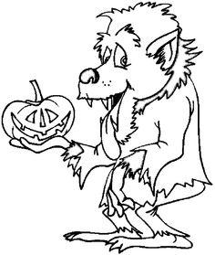 Drawn wolfman coloring page Free Monsters coloring Coloring Page