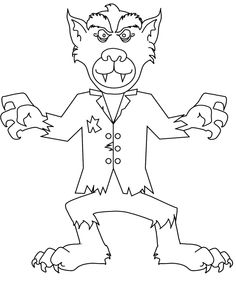 Drawn wolfman coloring page Demon Monsters Zombie Coloring Pages
