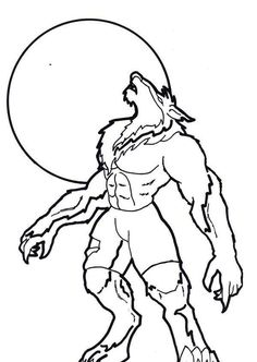 Drawn wolfman coloring page Wolf  Coloring Pages Lineart: