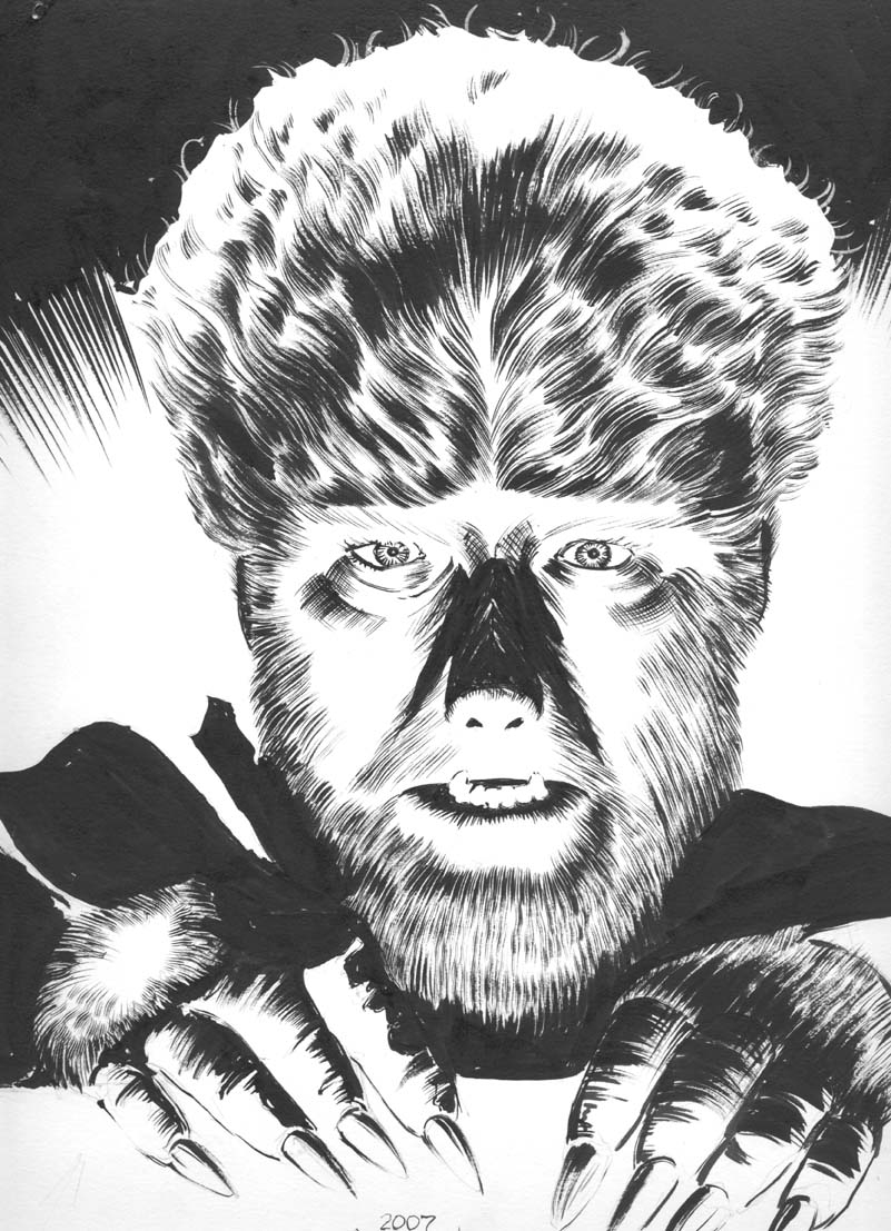Drawn wolfman comic  Heroes Wolfman Science the