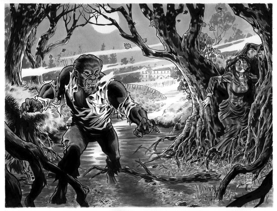 Drawn wolfman comic Popa's John The Wolfman Comic