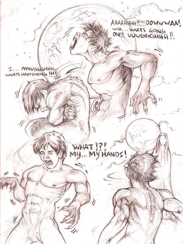 Drawn wolfman comic DeviantArt werewolf scrap atomsanddust by