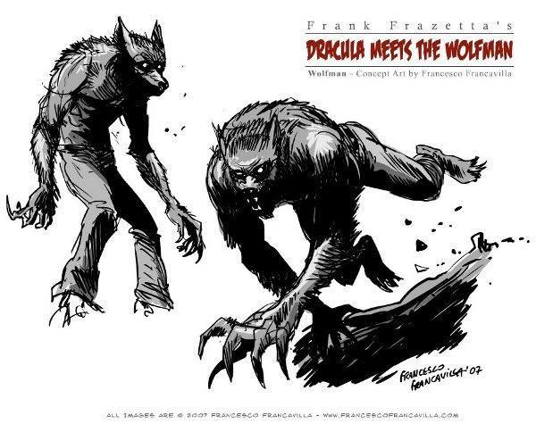 Drawn wolfman comic Dracula Comic Comic meets wolfman