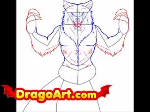 Drawn wolfman dragoart How Wolfman step step DragoArt