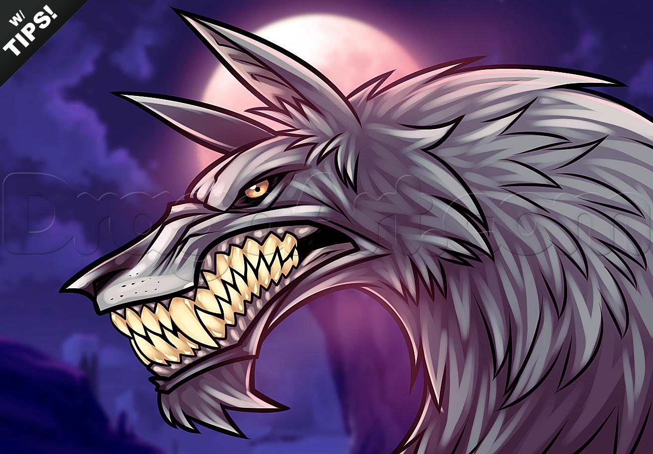 Drawn wolfman dragoart How werewolves How Draw Werewolves