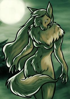Drawn wolfman dragoart How Werewolf a Female Female
