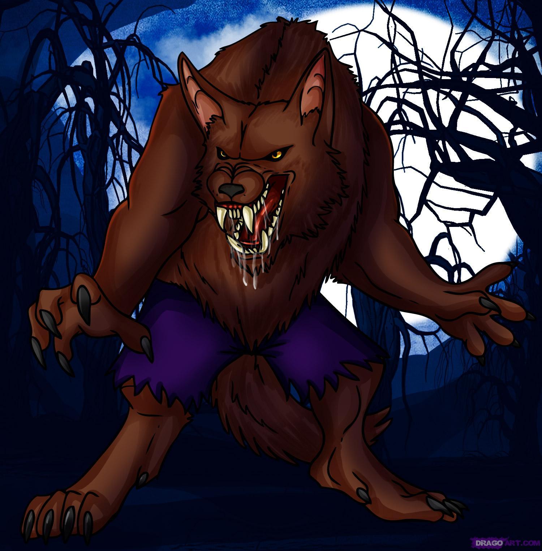 Drawn wolfman dragoart Drawing Dawn werewolf by Added