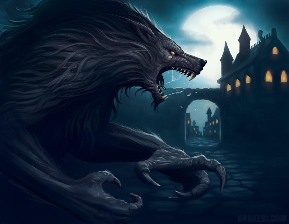 Drawn wolfman dragon eye By Werewolf on BobKehl on