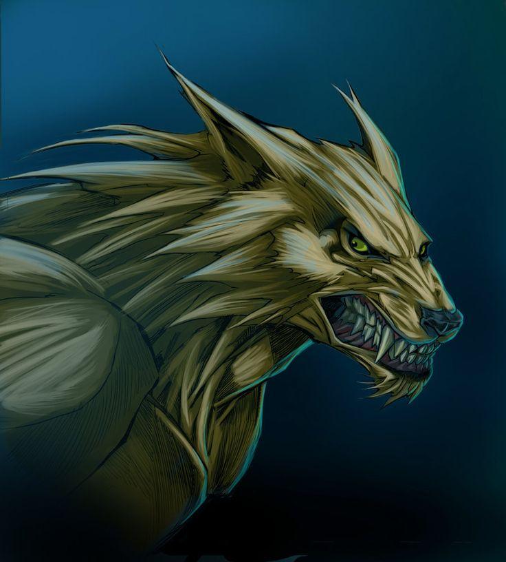 Drawn wolfman dragon eye The ideas Behold Color werewolf!!!!!!