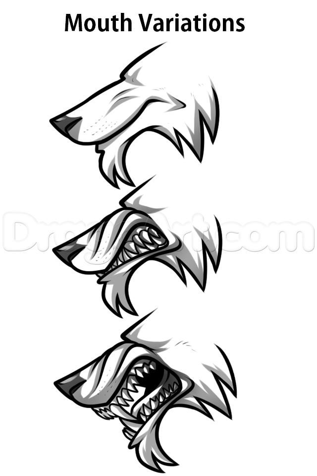 Drawn wolfman eye By 2 Step by Added