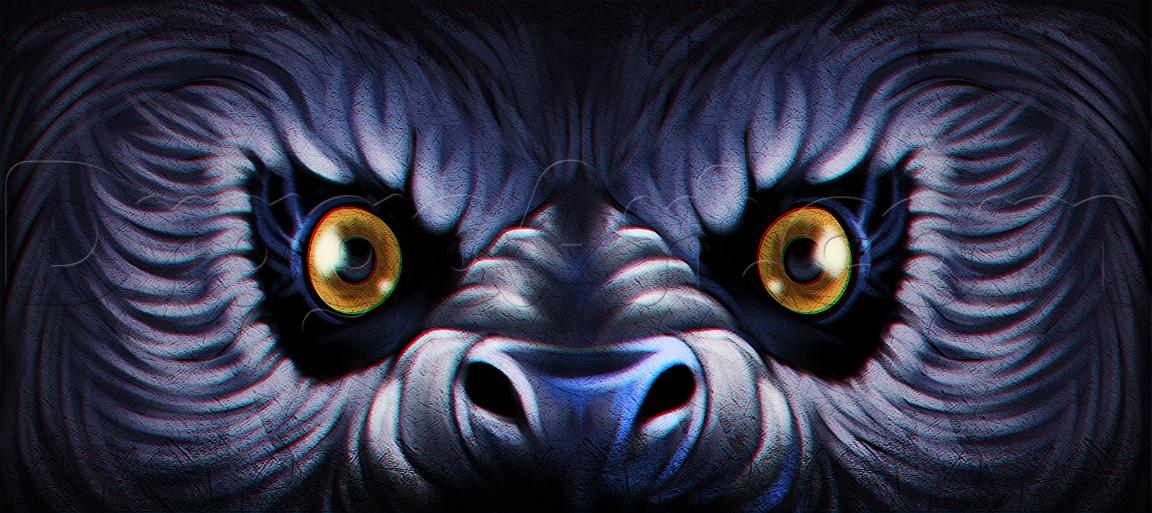 Drawn wolfman eye Eyes How Werewolf Monsters Werewolves