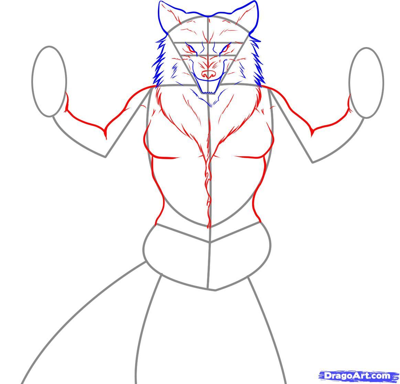Drawn wolfman eye Wolfman 3 Draw Monsters Werewolves