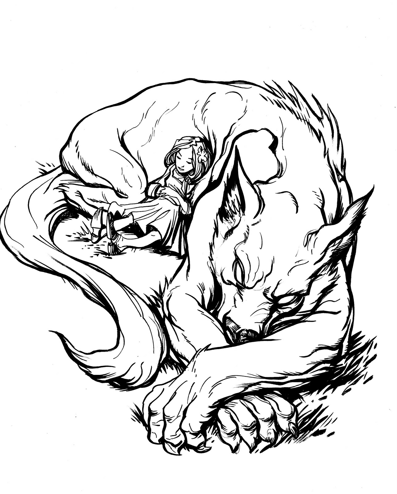 Drawn wolfman female werewolf Protecting Girl photo#14 girl Werewolf