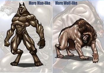 Drawn wolfman female werewolf Tropes Werewolves Different Are Different