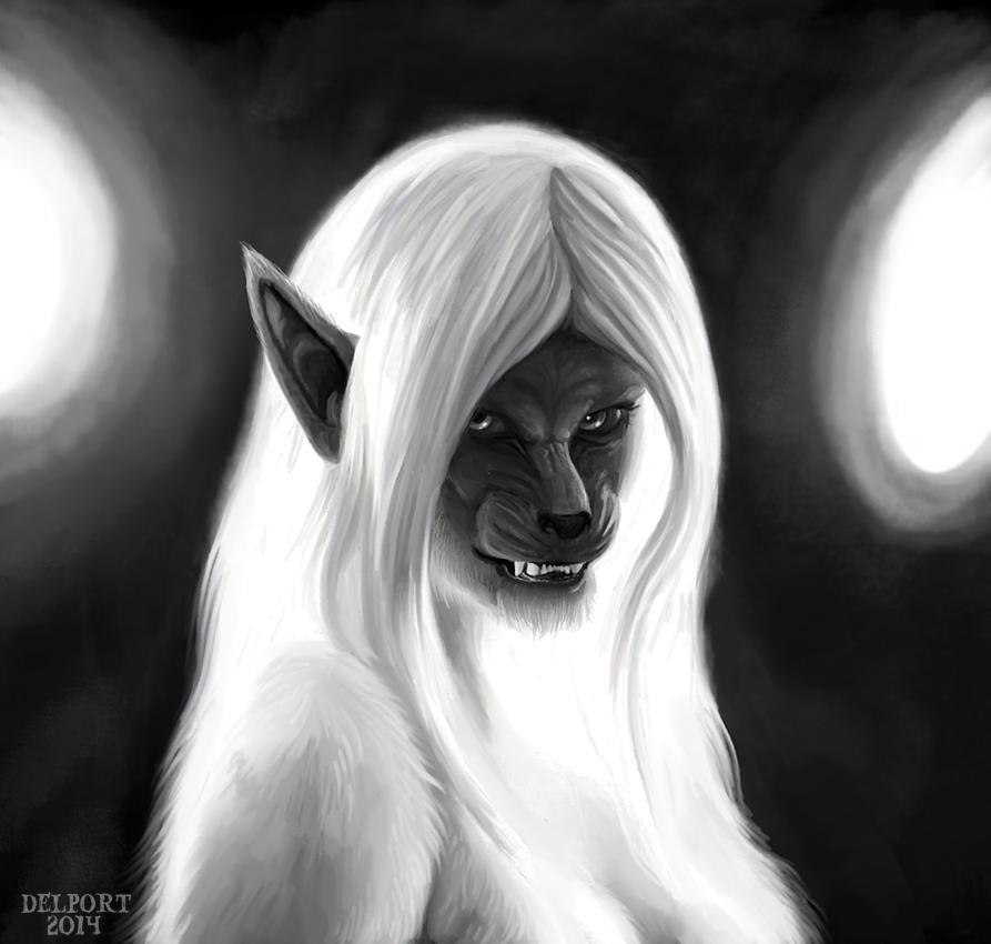 Drawn wolfman female werewolf Werewolf Day Viergacht Wyfwolf on