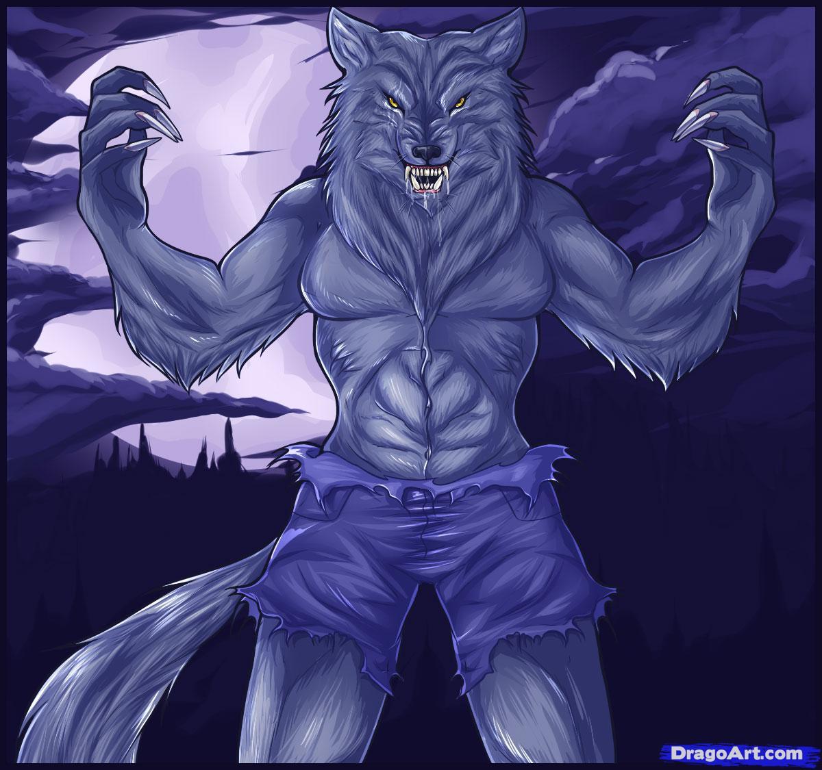 Drawn wolfman female werewolf By Step FREE Werewolves