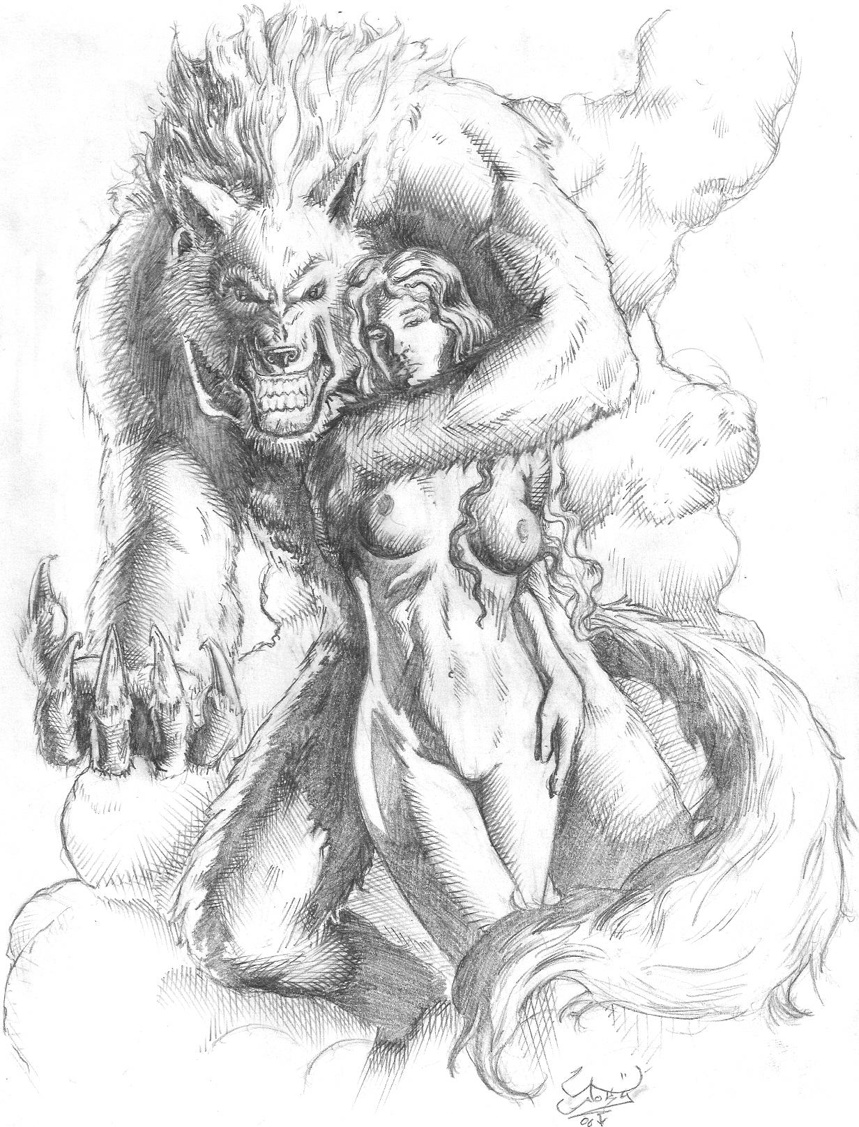 Drawn wolfman female werewolf JokY wolfwoman on Explore DeviantArt