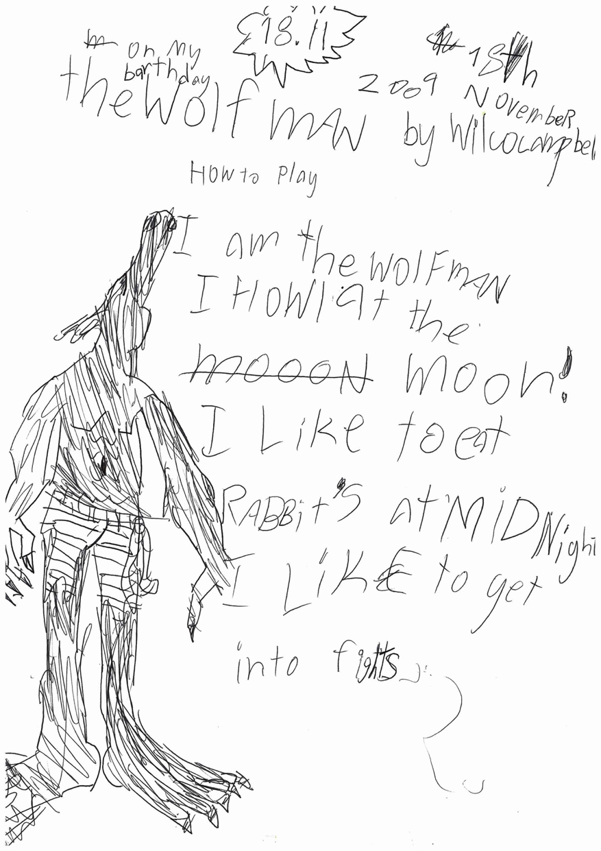Drawn wolfman first Son hell made song you