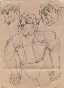 Drawn wolfman first First look new Art Fan