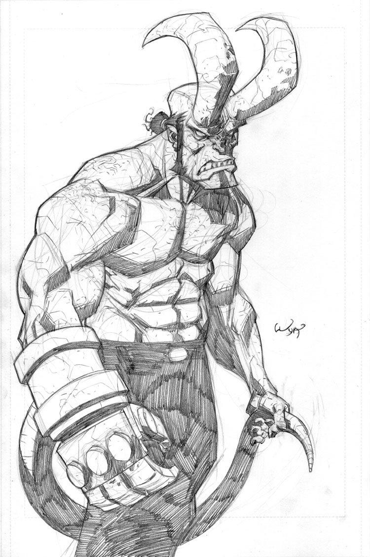 Drawn wolfman hellboy Hellboy RyanOttley on RyanOttley by
