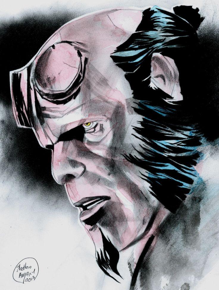 Drawn wolfman hellboy On Bryant Shelton Hellboy best