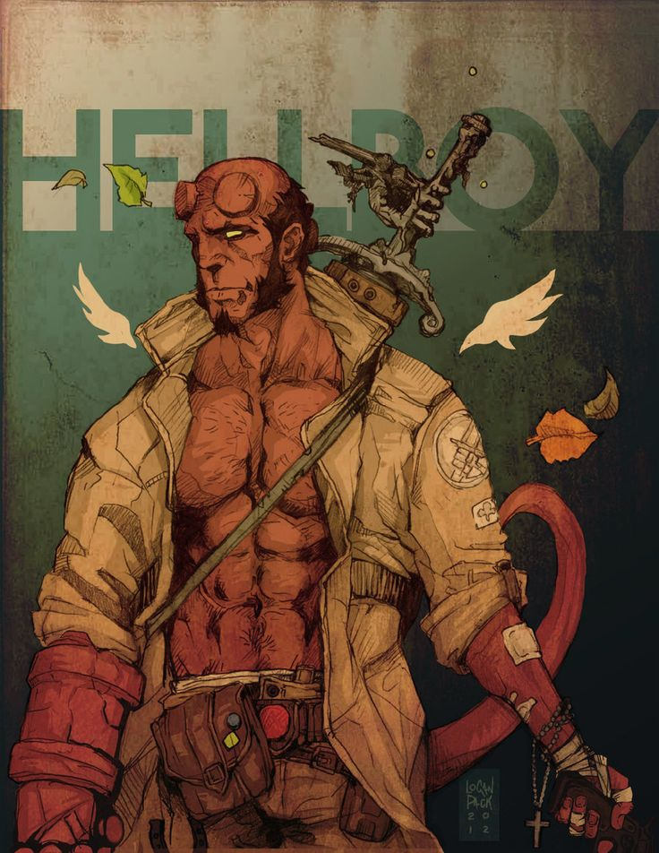 Drawn wolfman hellboy : on =cheshirecatart best images