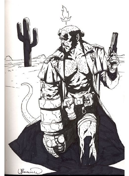 Drawn wolfman hellboy On 381 Bermejo about images