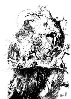 Drawn wolfman hellboy RPG Hellboy Wolfman Miguelanxo Modern