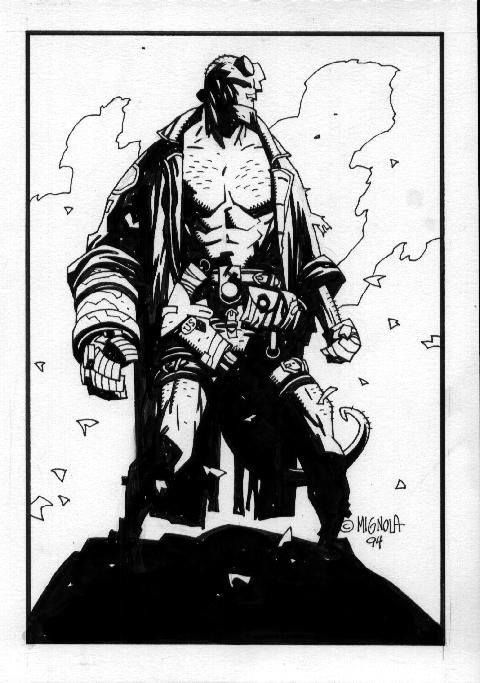 Drawn wolfman hellboy Mignola: Mike on Pinterest images