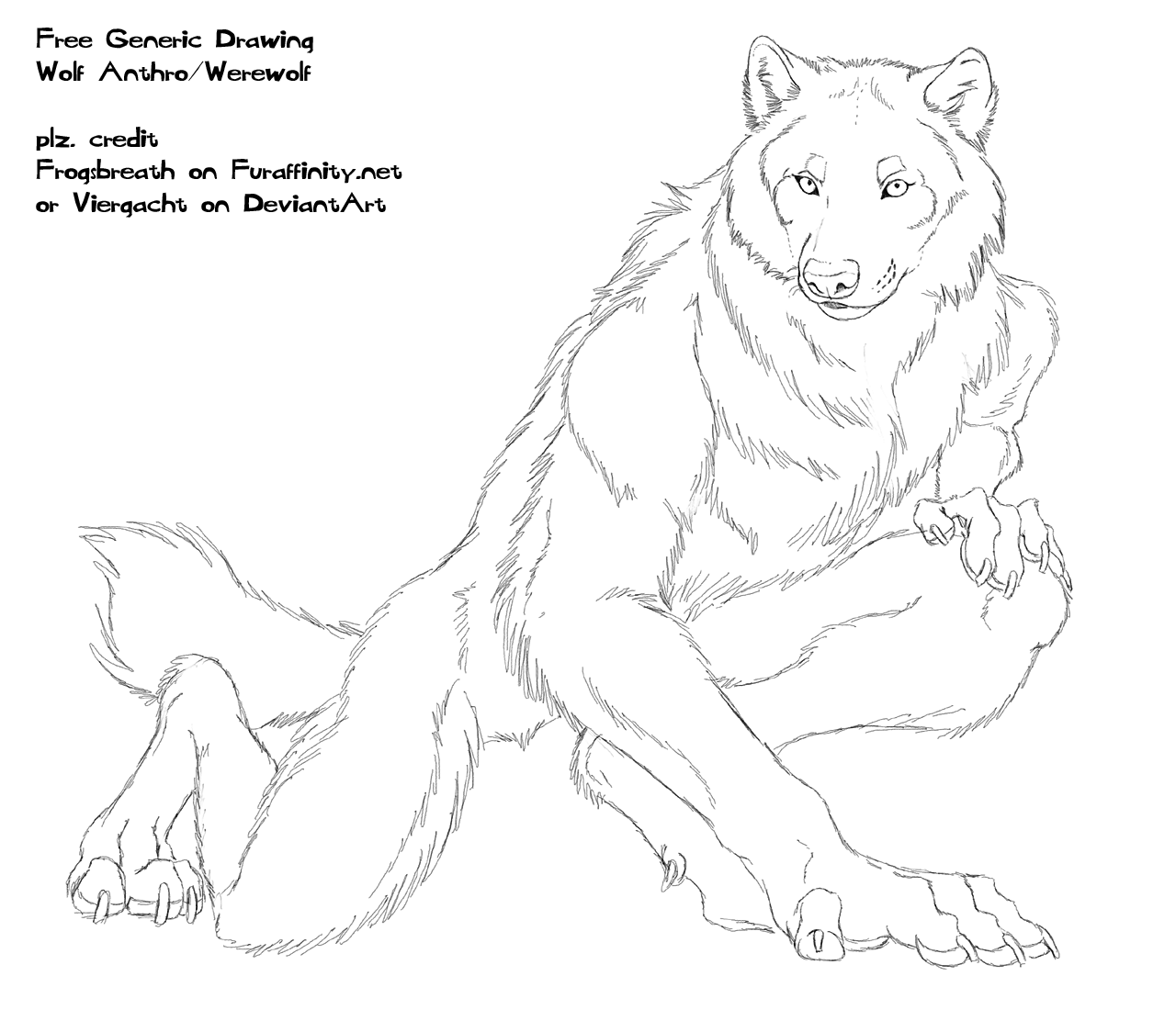Drawn wolfman human love Free Wolf Viergacht on Drawing