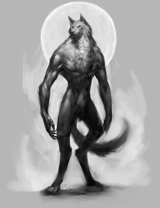 Drawn wolfman human love In Library 2009 Reviews: Werewolf