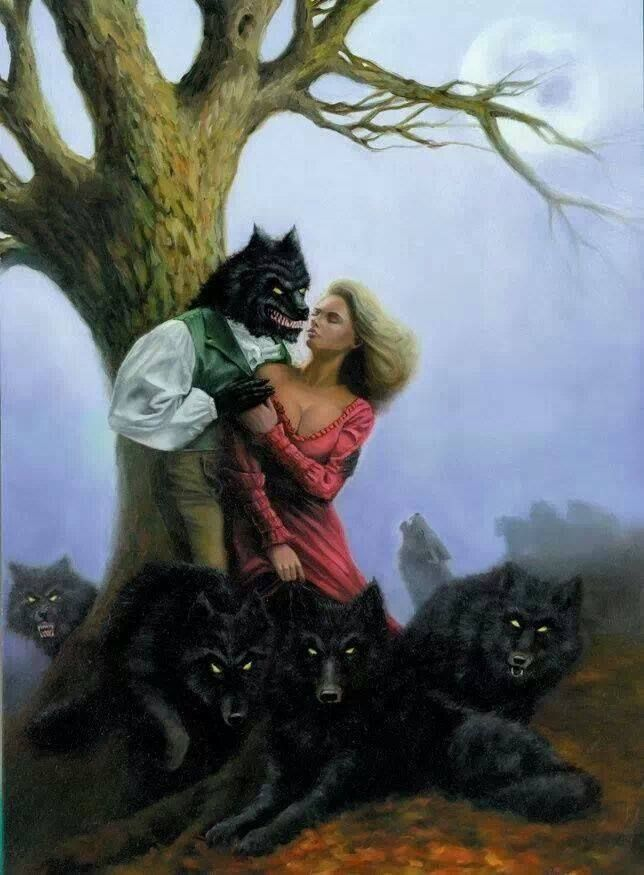 Drawn wolfman human love Werewolf Love! Werewolves  Human