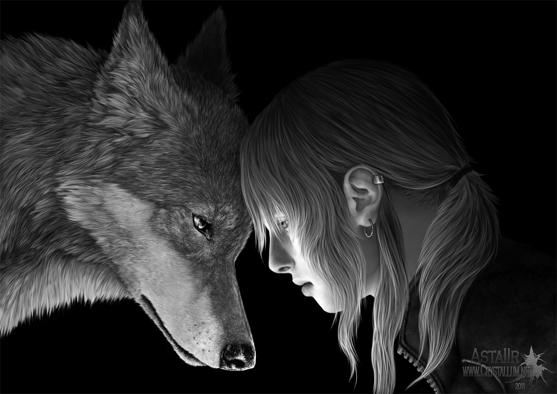 Drawn wolfman human love View Wεℜεw○lf☽ always accepting {Werewolf