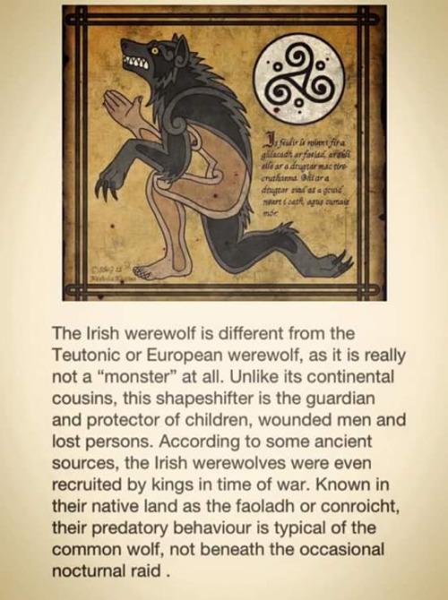 Drawn wolfman irish Werewolf celtic and other Faeries