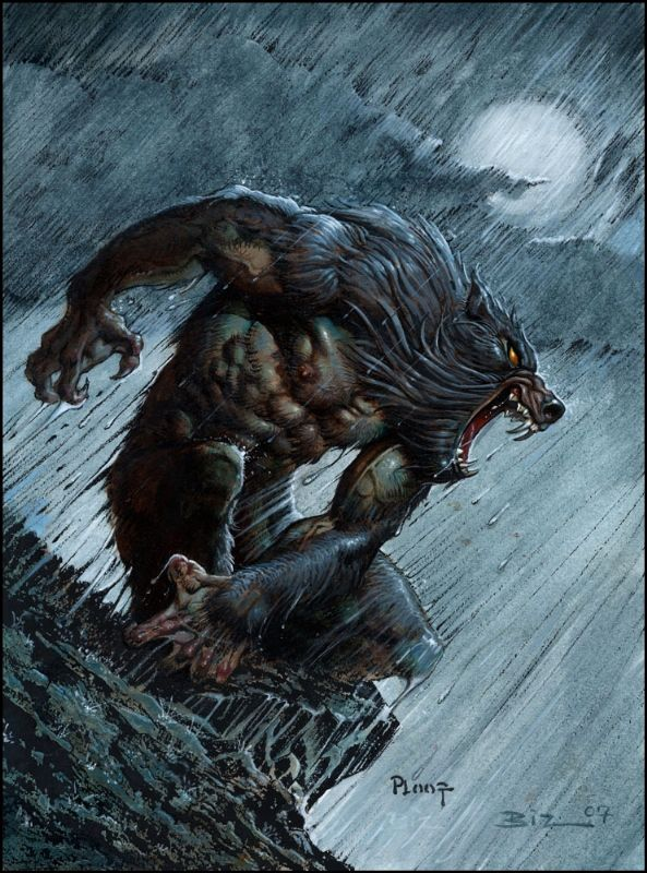 Drawn wolfman irish  204 Werewolves Pinterest and