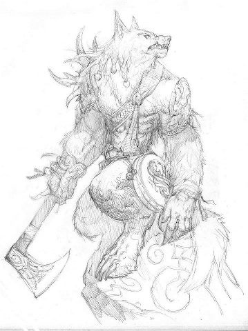 Drawn wolfman irish Images Find this and on