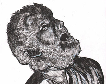 Drawn wolfman irish Man Wolf Series Wolf Man