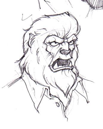 Drawn wolfman line art Wolfman photo#3 Wolfman drawing Drawing